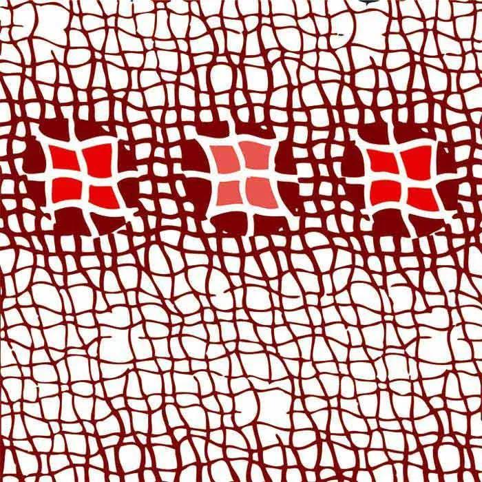 Dimex fototapeta Červená mriežka L-401 | 220 x 220 cm