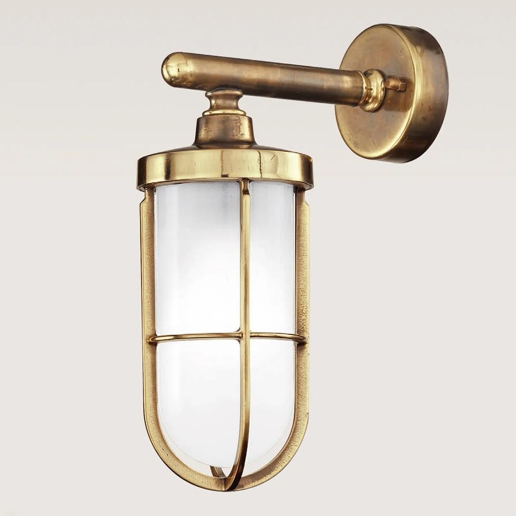 Vonkajšie nástenné svietidlo Vicolo z mosadze