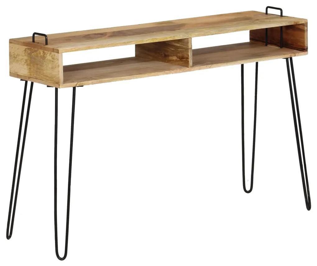 vidaXL Konzolový stolík z mangovníkového dreva 115x35x76 cm