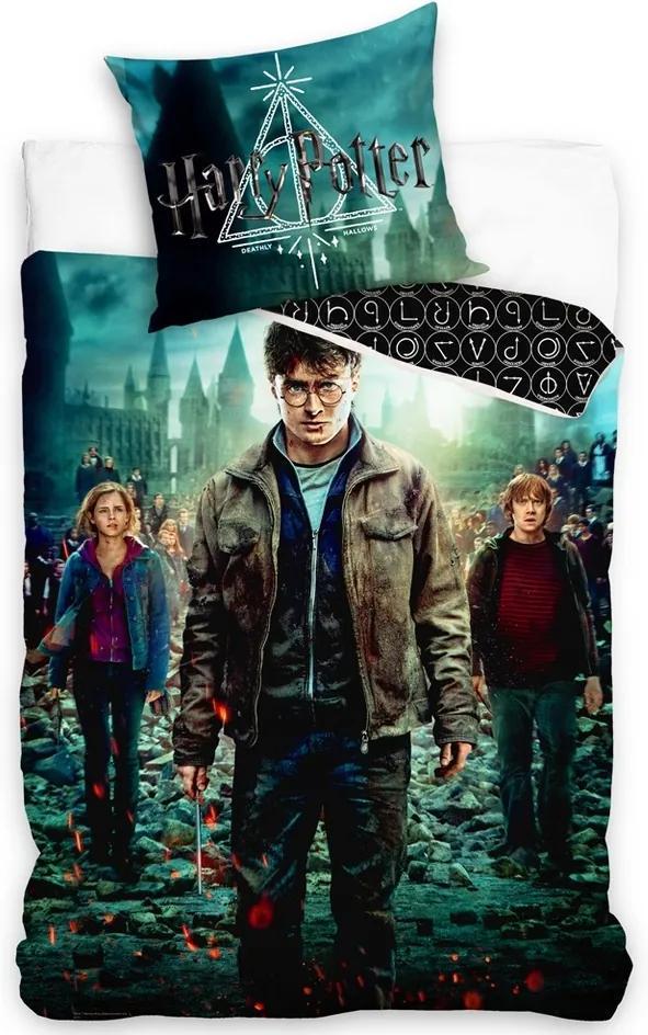 TipTrade Bavlnené obliečky Harry Potter a Čarodejníci, 140 x 200 cm, 70 x 90 cm