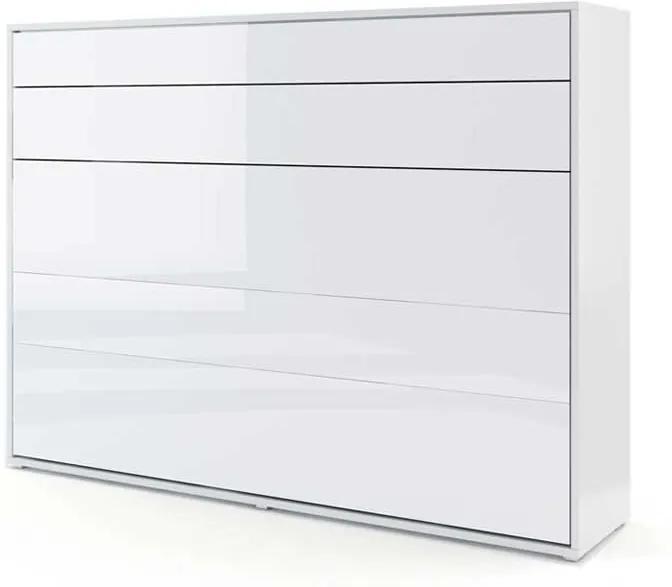 Dig-net nábytok Sklápacia posteľ BED CONCEPT BC-04p | Biely lesk
