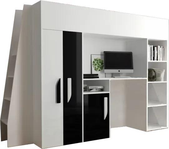 SB Multifunkčná poschodová posteľ Party 15 Farba: Čierna
