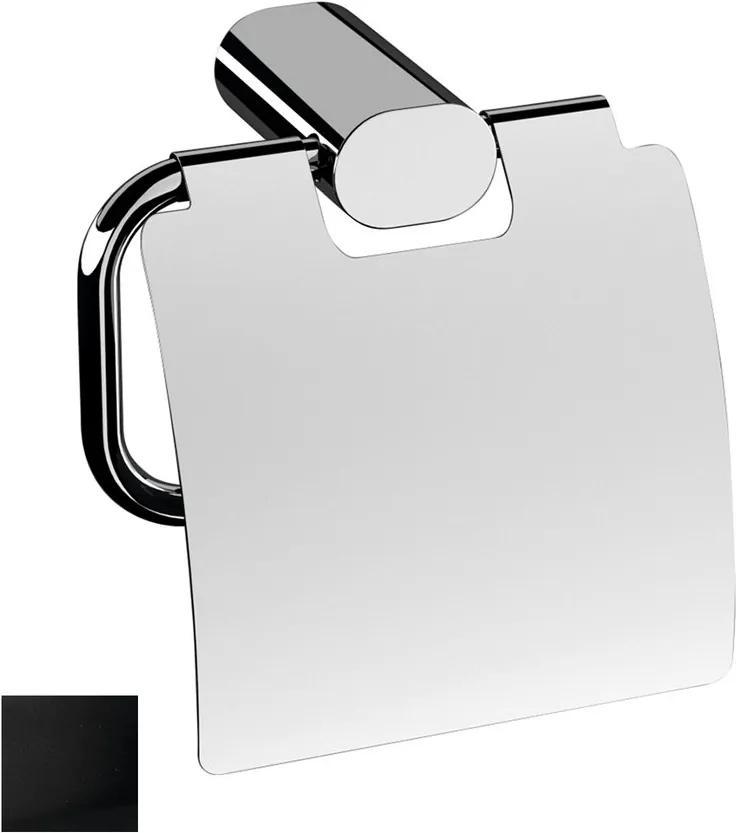 Flori RF007/15 držiak toaletného papiera s krytom, čierny