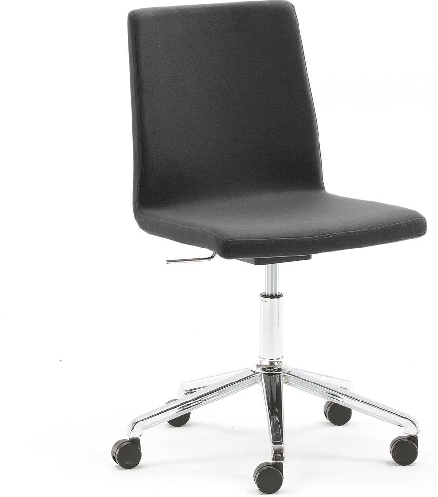 Konferenčná stolička Perry, Sitness funkcia, tmavošedé čalúnenie