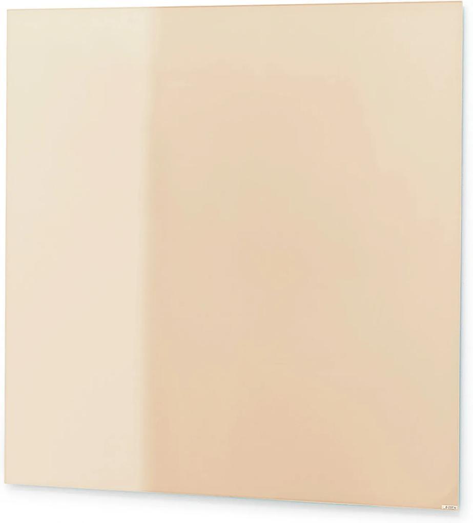 Sklenená magnetická tabuľa Stella, 500x500 mm, svetlohnedá