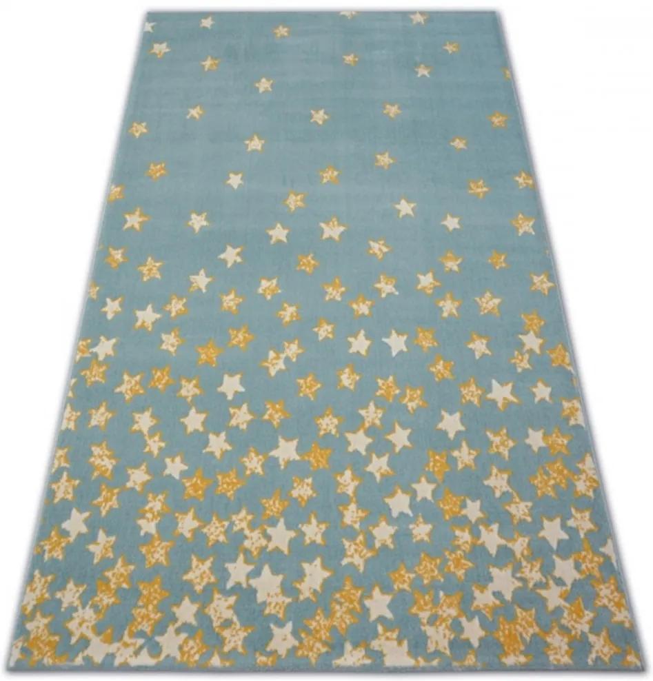 Detský kusový koberec PP Hviezdičky modrý, Velikosti 120x170cm