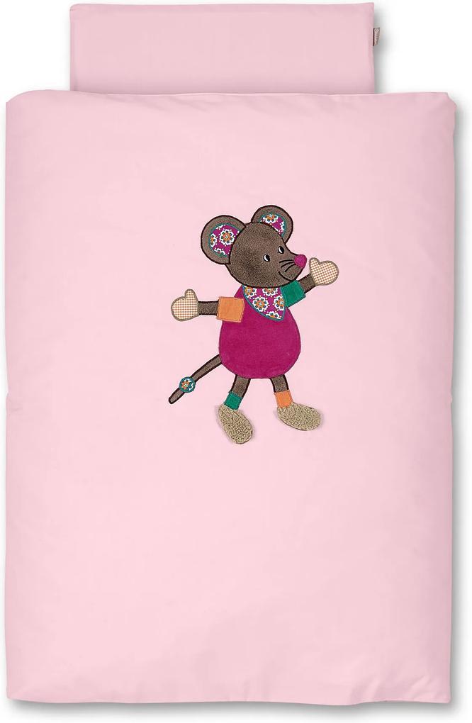 Sterntaler Povlečení do kočárku myška Mabel 80x80cm