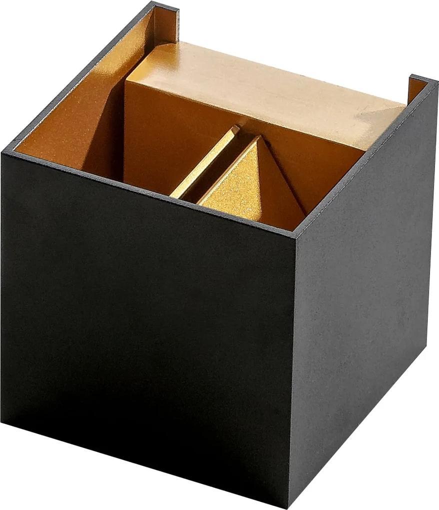 Moderné svietidlo AZZARDO Leticia black/gold AZ2814