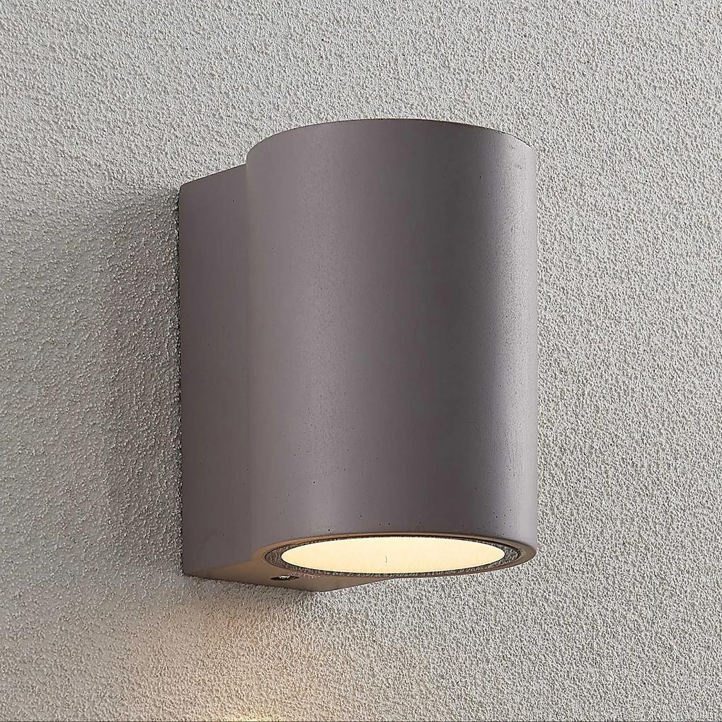 Vonkajšie nástenné LED svietidlo Katalia betón 1pl