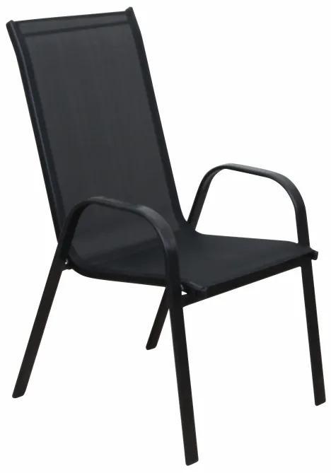 TEMPO KONDELA Aldera záhradná stolička tmavosivá / čierna