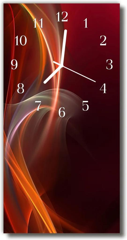 Skleněné hodiny vertikální Umění abstrakce oranžová