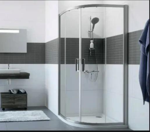 Sprchové dvere Huppe dvojkrídlové 90 cm, sklo číre, chróm profil, univerzálny C20612.069.322