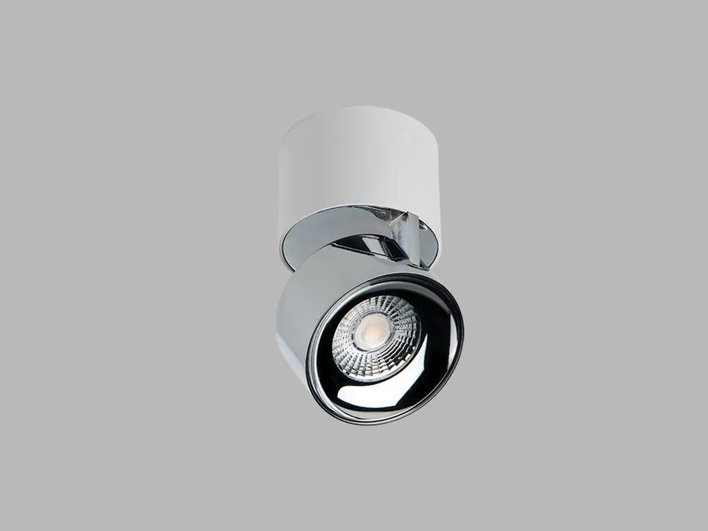 LED2 11508315 SPY stropné bodové nastaviteľné sklopné svietidlo 4W/250lm 3000K biela/chróm