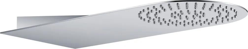 Sapho Slim MS710 hlavová sprcha zo steny 220x500x2,4mm, guľatá, leštená nerez
