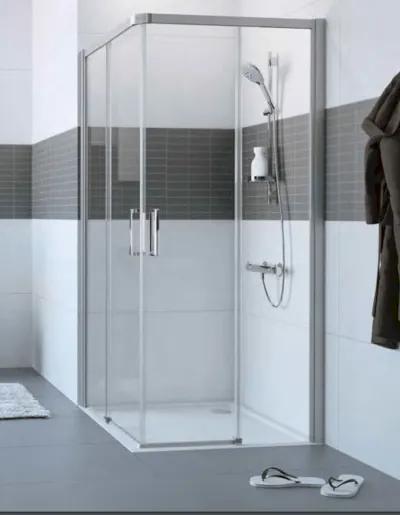 Sprchové dvere Huppe dvojkrídlové 70 cm, sklo číre, chróm profil, pravé C25206.069.322
