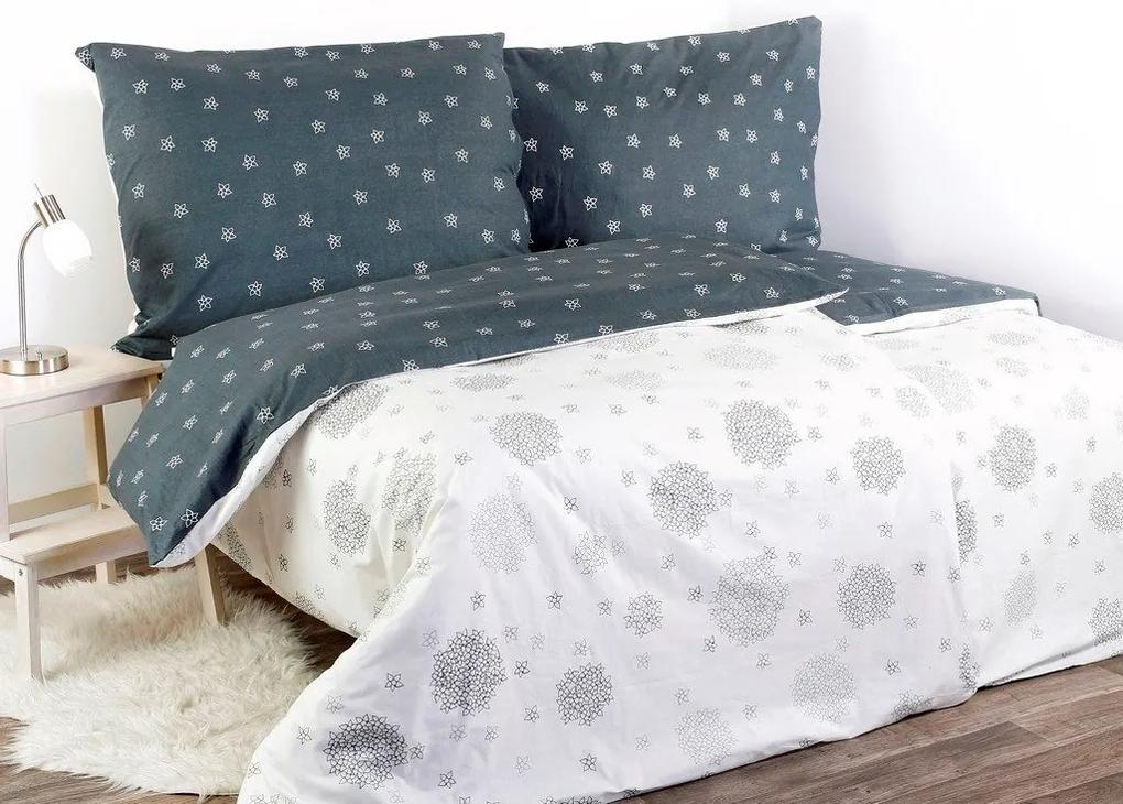 Škodák Bavlnené posteľné obliečky vzor B-488 jednoduché kvety - Jednolôžko 140 x 200 cm