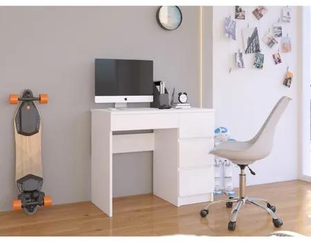 Počítačový stôl A7 pravý biely
