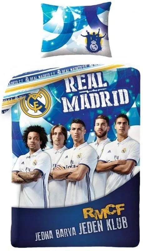 9e79928475bf5 Halantex · Bavlnené posteľné obliečky - posteľná bielizeň - FC Real Madrid  - Jedna farba, ...