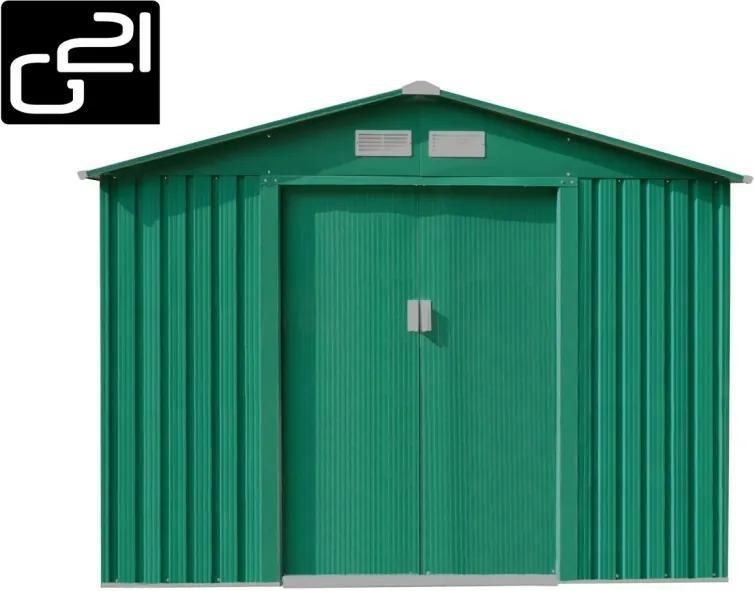 G21 - Záhradný domček G21 GAH 580 - 251 x 231 cm, zelený 6390053