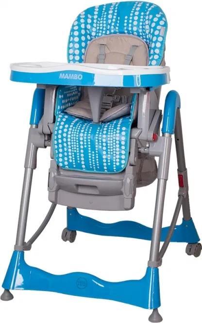 NE Coto baby Mambo Tyrkysová detská jedálenská stolička