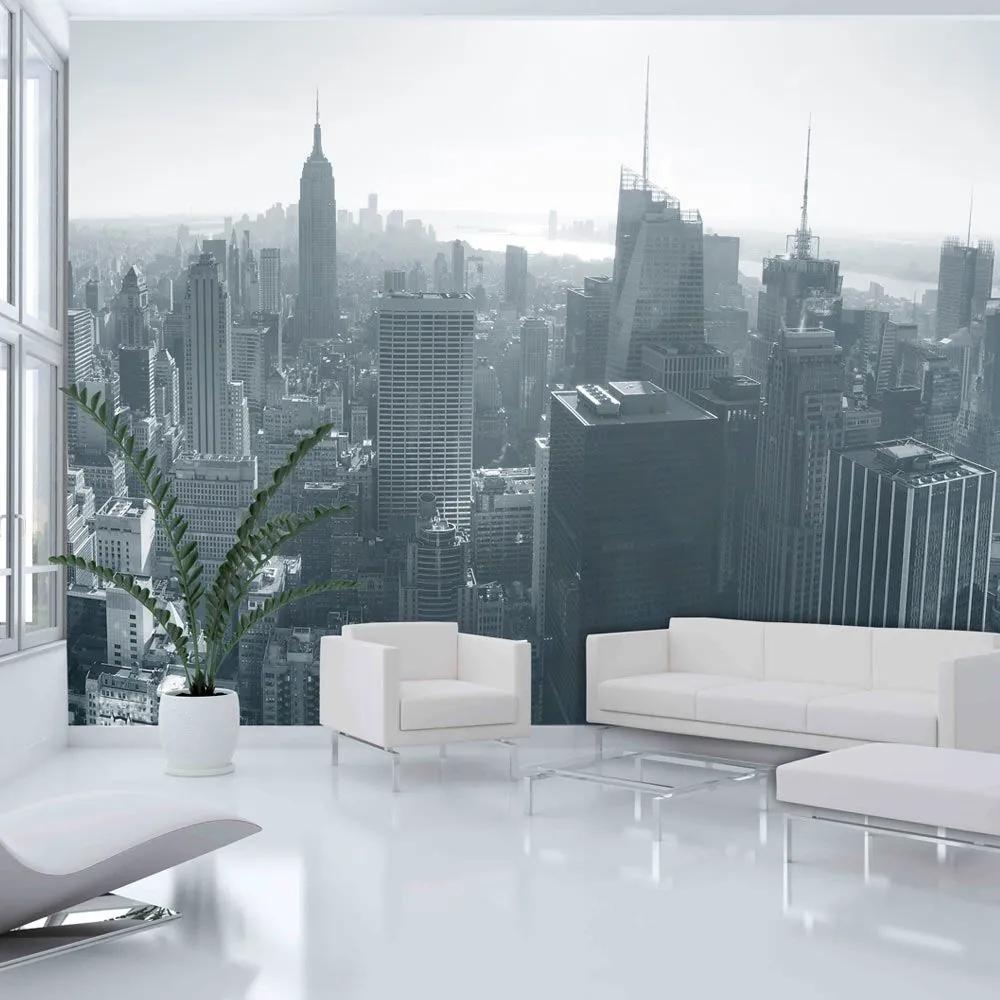 Fototapeta - New York City skyline black and white 200x154