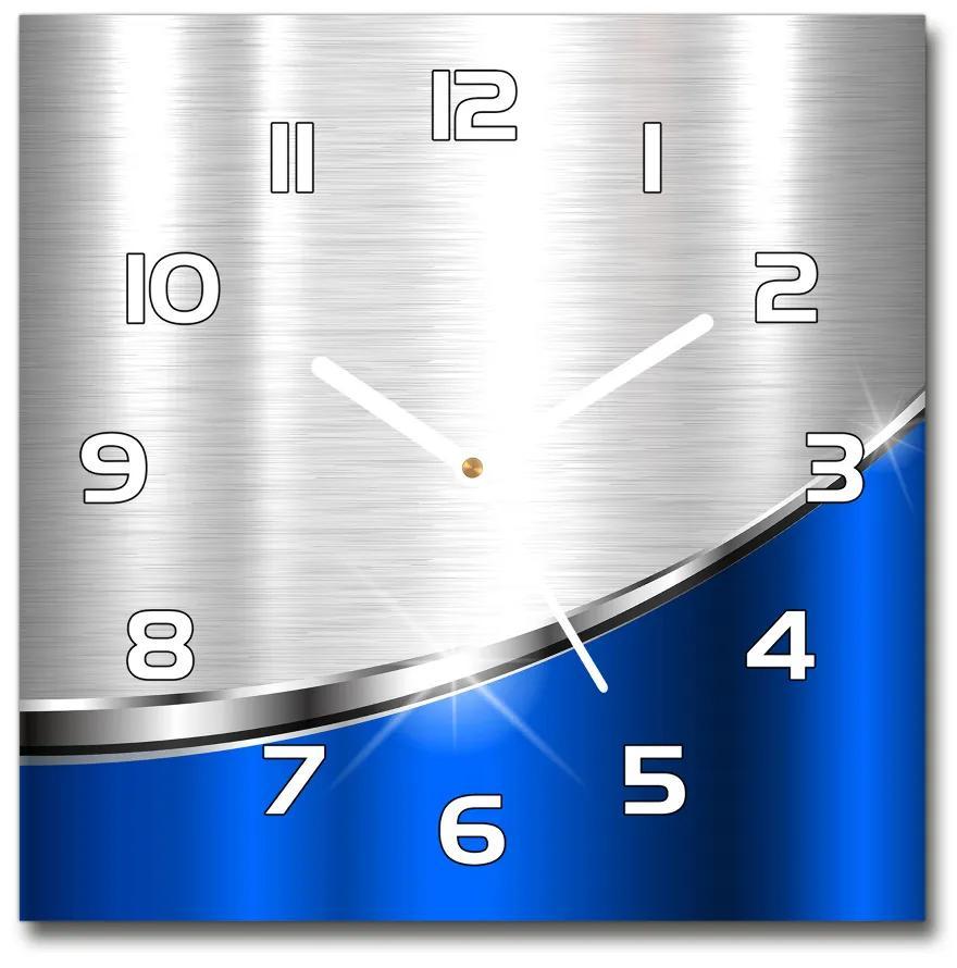 Sklenené hodiny štvorec Metalová abstrakcie pl_zsk_30x30_s_403380373