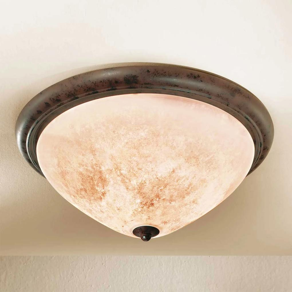 Okrúhle vidiecke stropné svietidlo Samuele krémové
