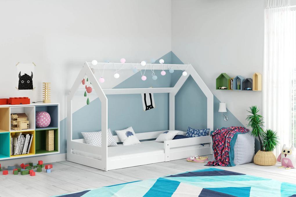 Domčeková posteľ DOMČEK (bez zásuvky) 160x80cm - Biela