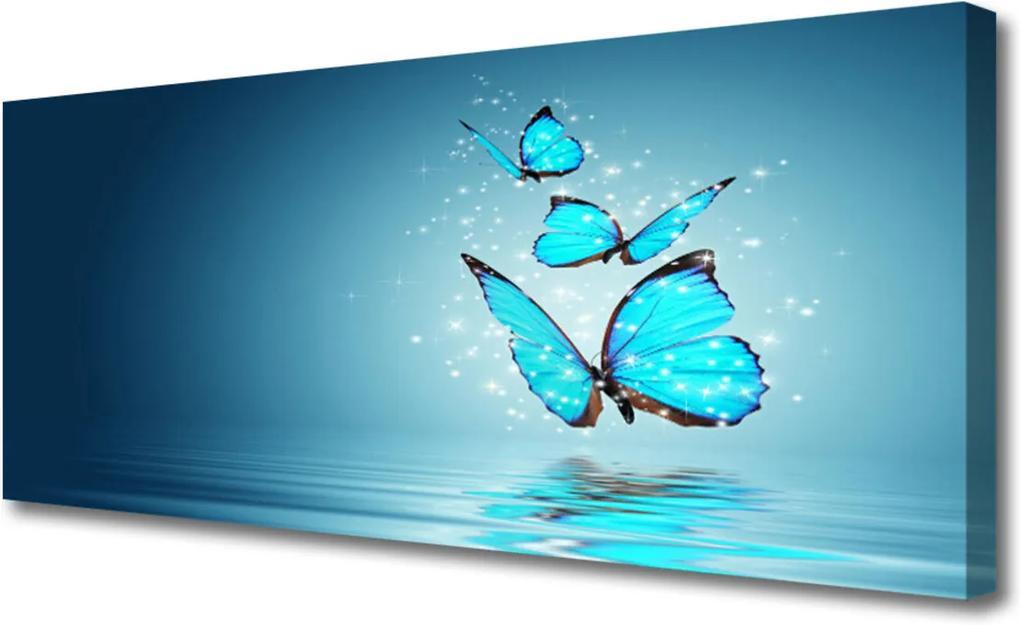 Obraz Canvas Motýli voda umění