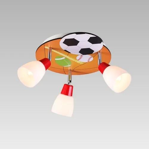 Prezent 92028036 detské stropné svietidlo Ballin 3x40W | E14