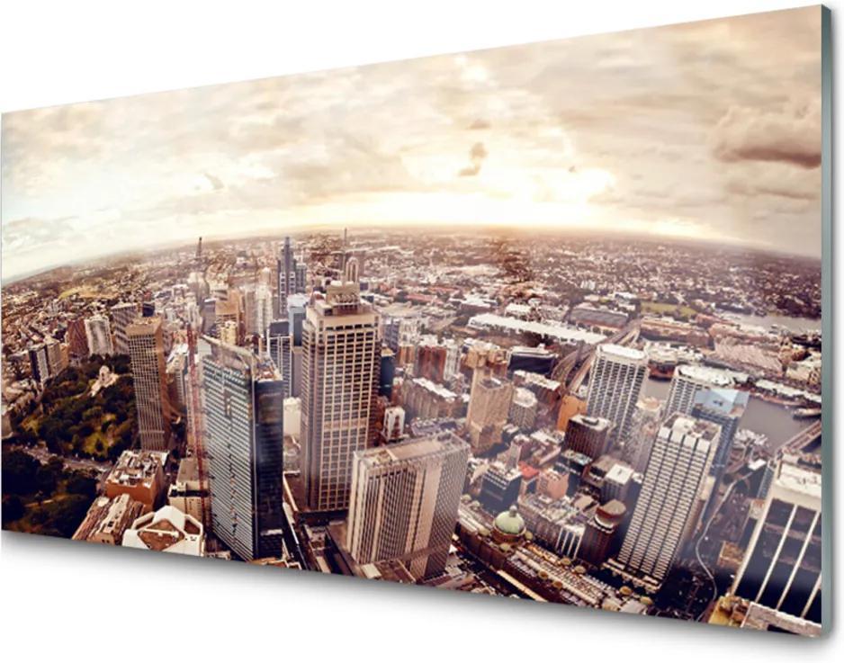 Obraz na skle Skleněný město krajina