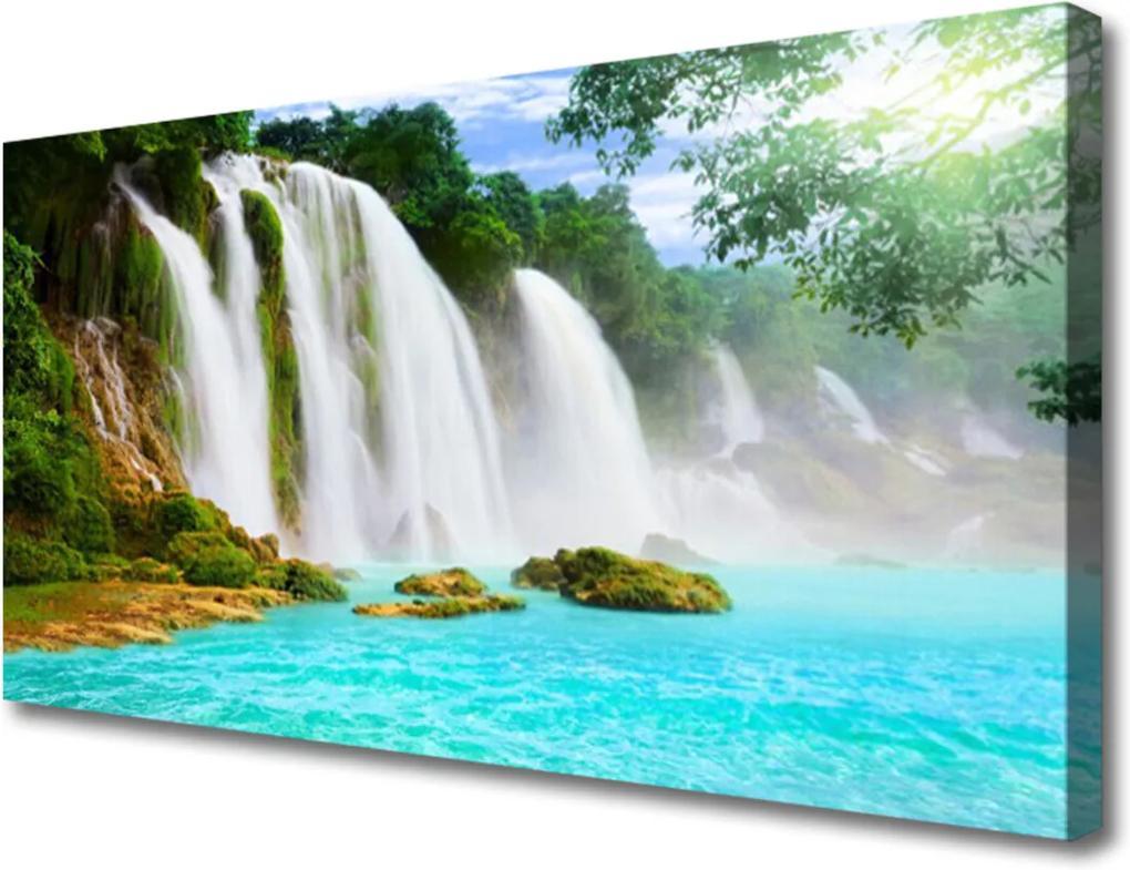 Obraz Canvas Vodopád jezero příroda