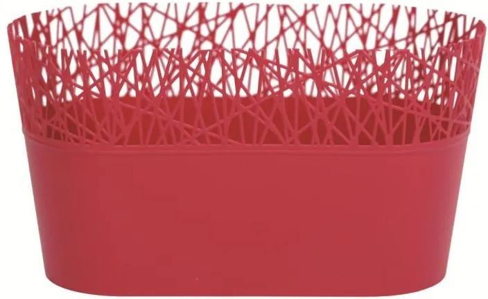 PlasticFuture Truhlík s krajkou AVE 28,5 růžový