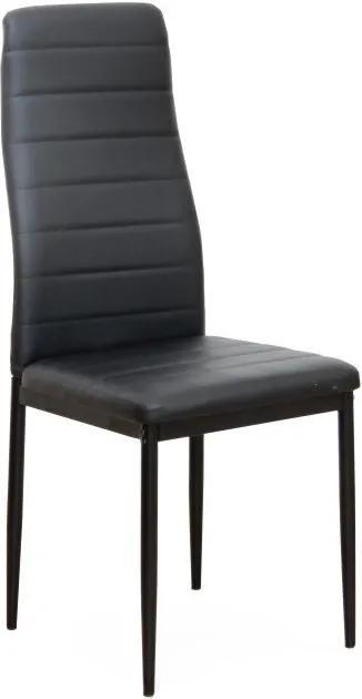 Stolička, čierna ekokoža/čierny kov, COLETA NOVA