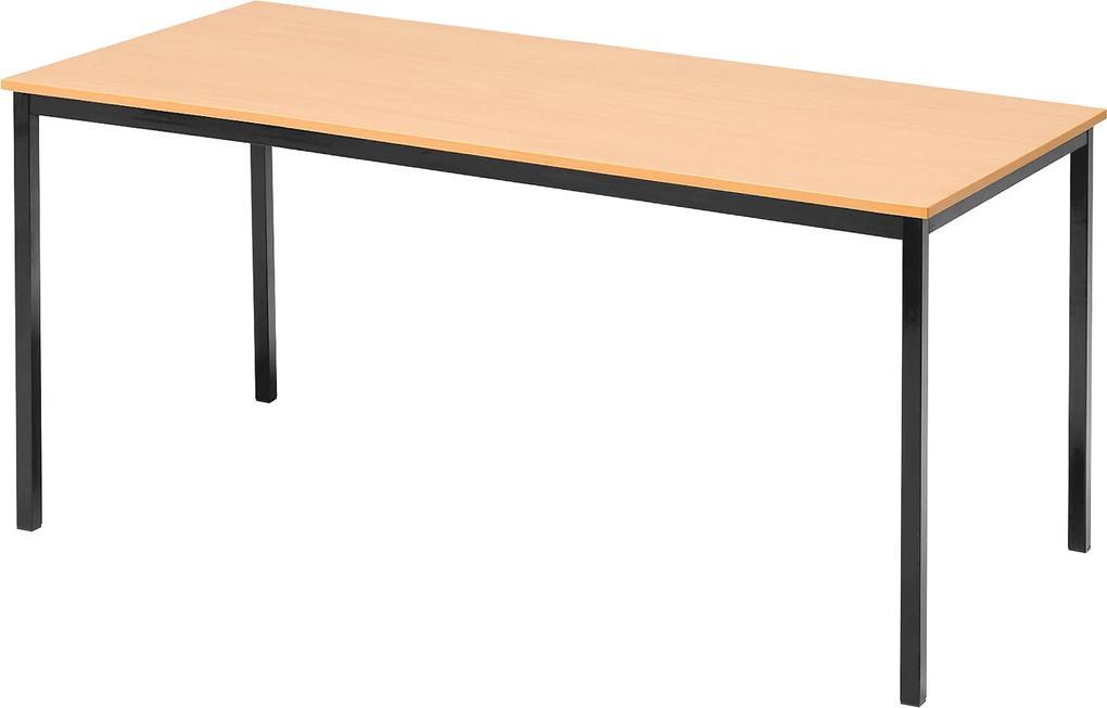 Jedálenský stôl Jamie, 1800x800 mm, bukový laminát / čierna