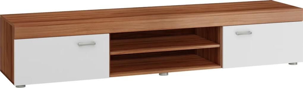 MEBLOCROSS Mamba MAM-04 tv stolík slivka / biela