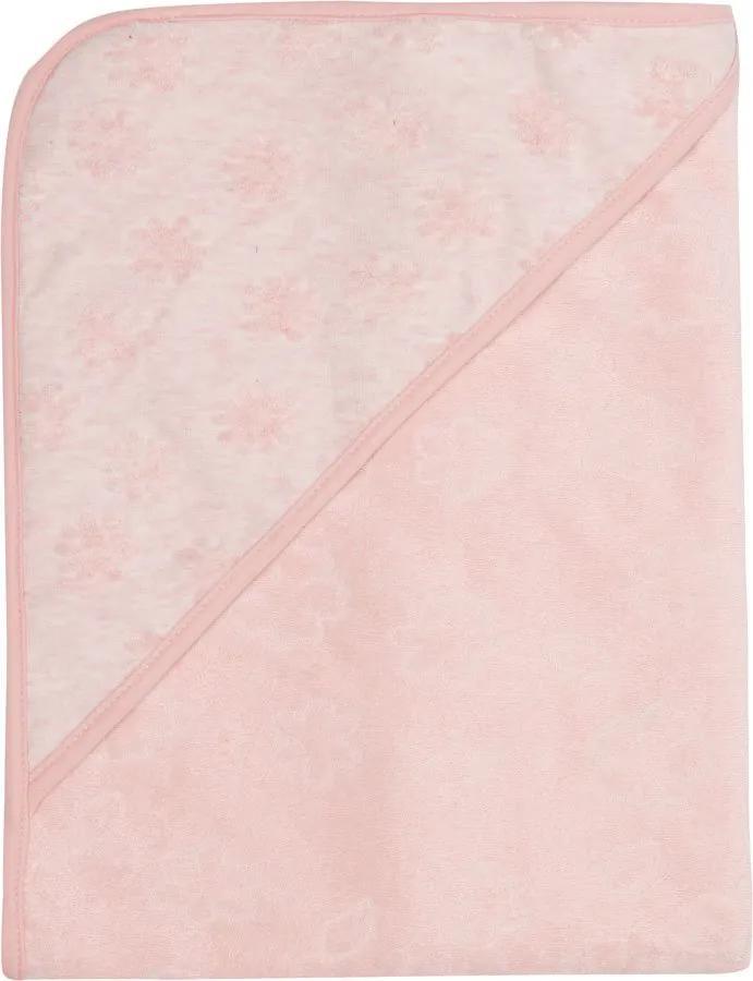 Bebe-jou Uterák s kapucňou froté Fabulous Blush Pink
