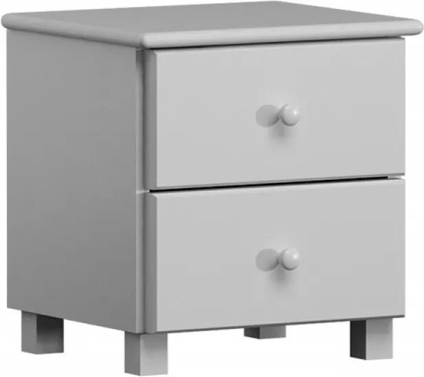 AMI nábytok noční stolek Katka masiv bílá borovice