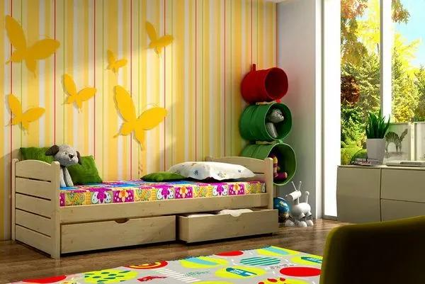 MAXMAX Detská posteľ z masívu 200x80cm so zásuvkou - DP011 200x80 ÁNO