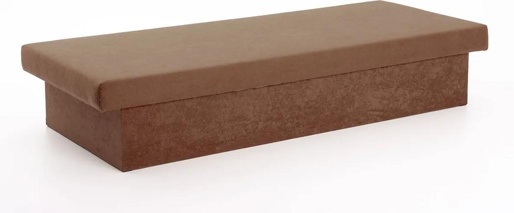 DREVONA Pružinová váľanda hnedá 195x80x38 JANA, Vento X45 Brown