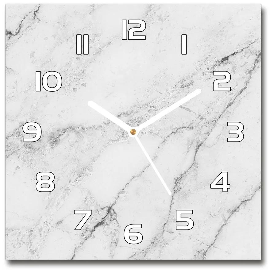 Sklenené nástenné hodiny štvorec Mramor pl_zsk_30x30_f_135516047