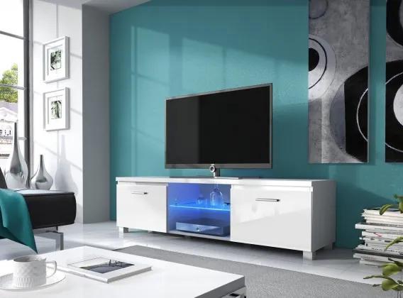 TV 2 - TV stolík (biela/biela