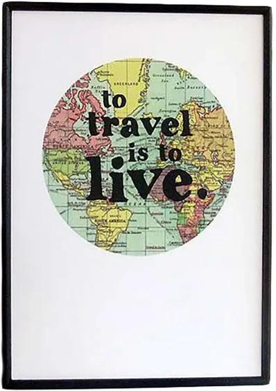 Zarámovaný plagát – To Travel Is To Live