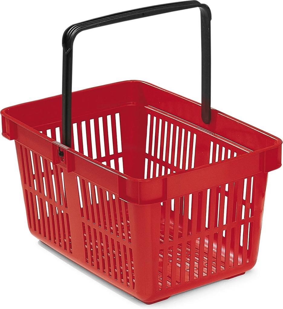 Nákupný košík, 27 L, 480x330x250 mm, červený