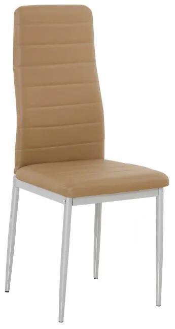 TEMPO KONDELA Coleta Nova jedálenská stolička karamelová / sivá