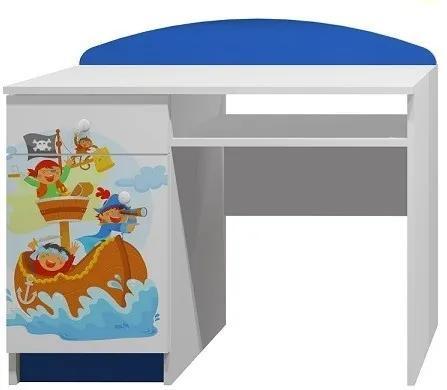 MAXMAX Písací stôl pirátska loď - TYP A pre chlapca