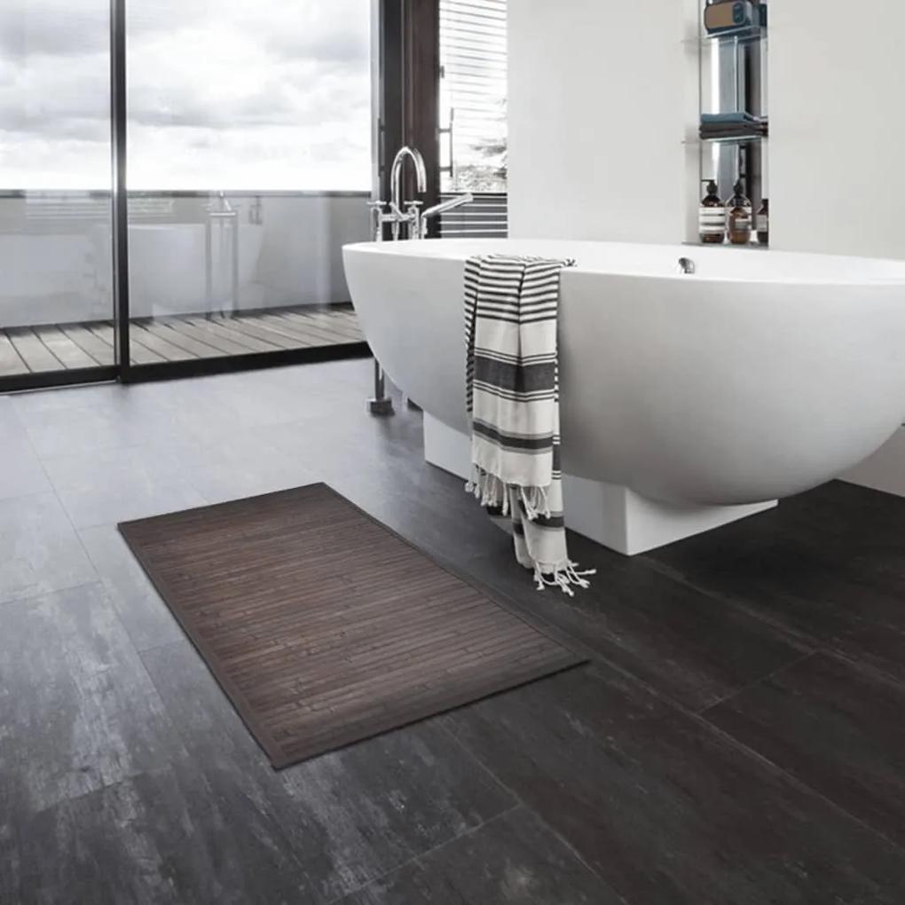 vidaXL Bambusová predložka do kúpeľne 8 ks 40x50 cm tmavohnedá
