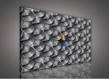 Obraz na plátne obdĺžnik - OB0609 - 3D kruhy 100cm x 75cm - O1