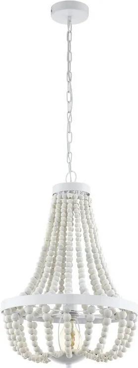 Eglo Vintage 49607 Závesné svietidlo BARRHILL biele 1xE27