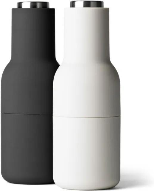 Menu Mlynčeky na soľ a čierne korenie Bottle, set 2ks, ash-carbon, steel lid